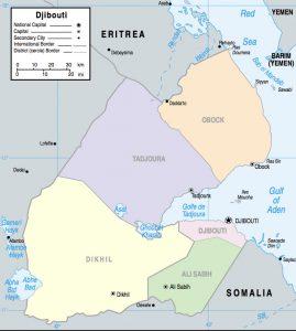 Carte des provinces de Djibouti
