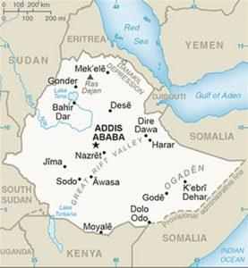 Carte de l'Éthiopie