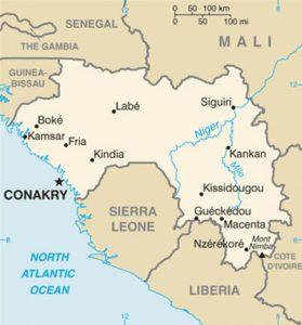 Carte générale de la Guinée