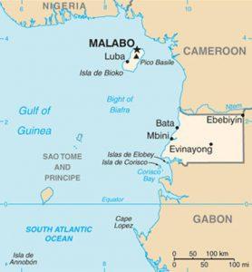 Carte de la Guinée Equatoriale