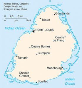 Carte de Maurice