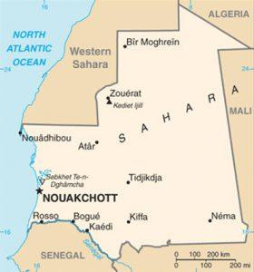 Plan de la Mauritanie