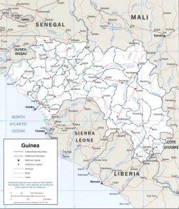 Carte politique de la Guinée