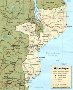 Carte politique du Mozambique