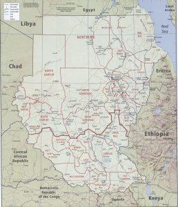 Carte politique du Soudan du Sud