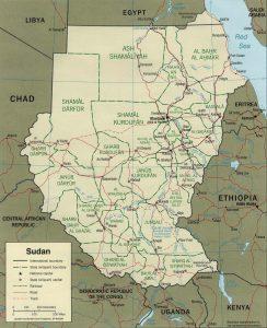 Carte politique du Soudan