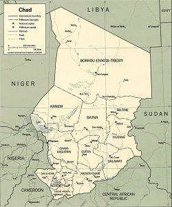 Carte politique du Tchad