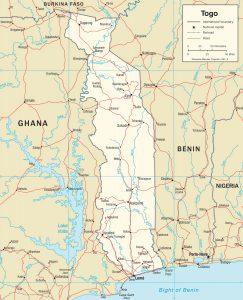 Carte politique du Togo
