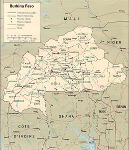 Carte politique du Burkina Faso