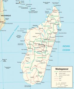 Carte politique de Madagascar