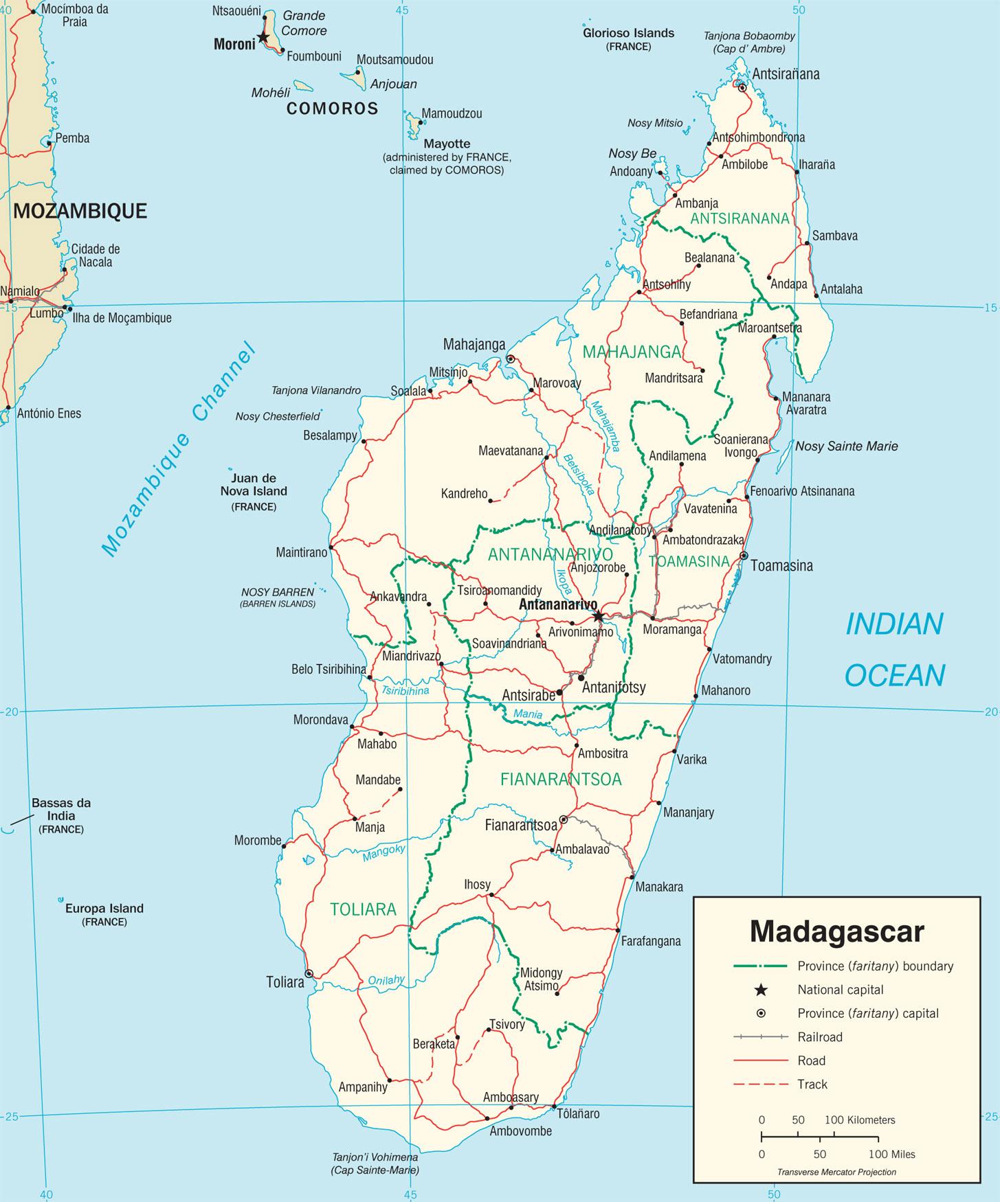 madagascar carte du monde