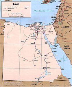 carte politique de l'Egypte
