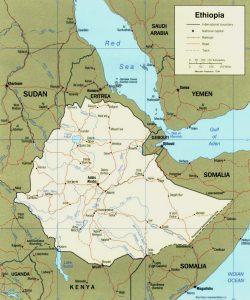Carte politique de l'Éthiopie