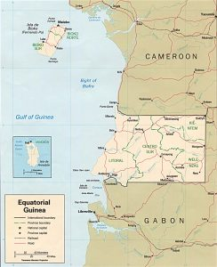 Carte politique de la Guinée Equatoriale