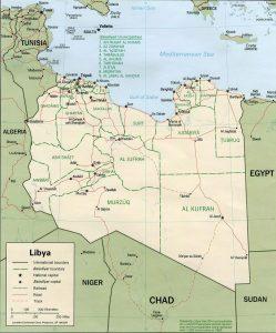Caret politique de la Libye