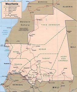 Carte politique de la Mauritanie