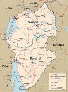 Carte politique du Rwanda
