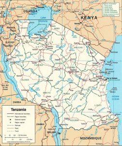Carte politique de la Tanzanie