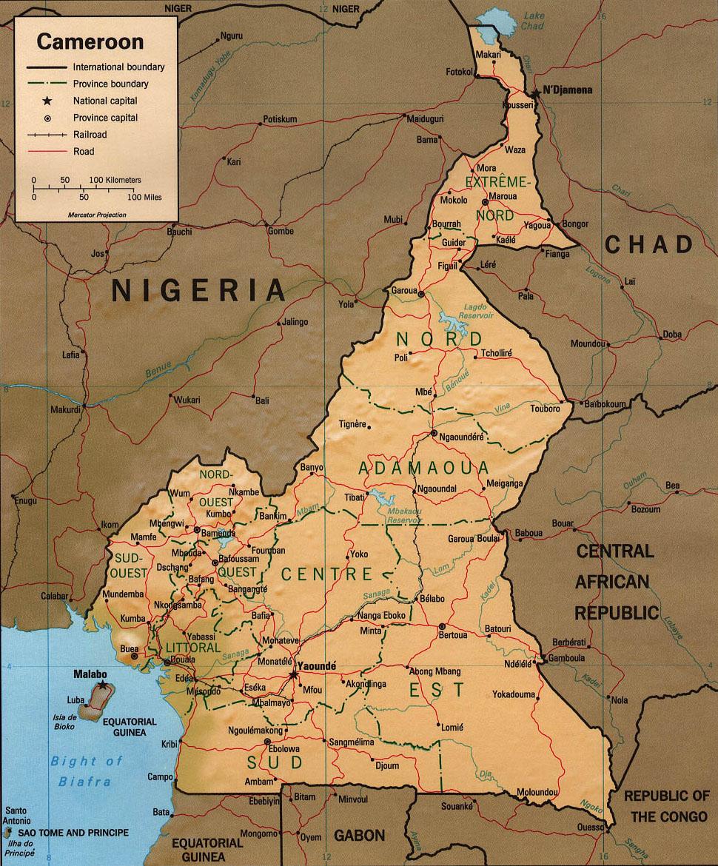 Cartes du Cameroun - Carte-monde.org