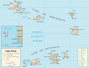 Carte en relief du Cap-Vert