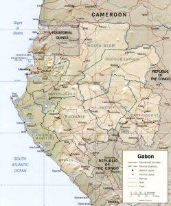 Carte en relief du Gabon