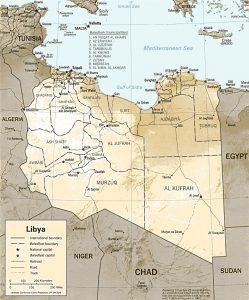 Caret en relief de la Libye