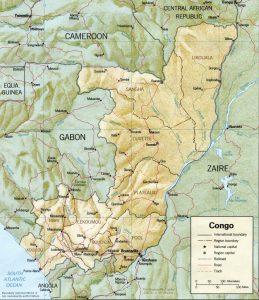 Carte en relief du Congo