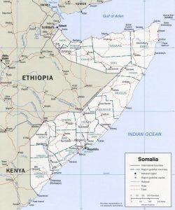 Carte administrative de la Somalie