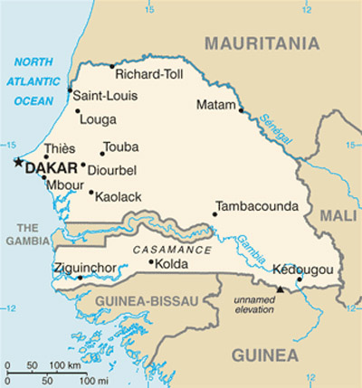 Carte Senegal Vierge.Cartes Du Senegal Carte Monde Org